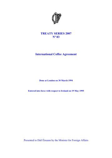 Treaty Series 2007 N 108 Agreement Relating To The