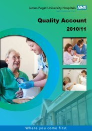 Quality Account 2010/11 - James Paget University Hospitals