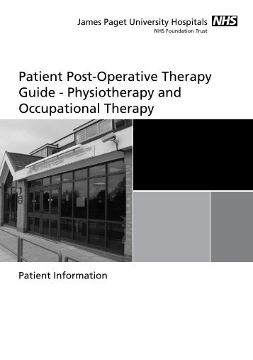 Patient Post-Operative Therapy Guide - Physiotherapy and ...