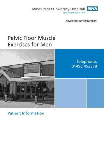 Pelvic Floor Exercise Men leaflet - James Paget University Hospitals