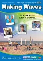 Making Waves - Summer 2013 - James Paget University Hospitals