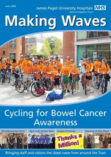Making Waves June 2009 - James Paget University Hospitals