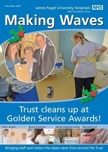 FT Making Waves Sept 06 - James Paget University Hospitals