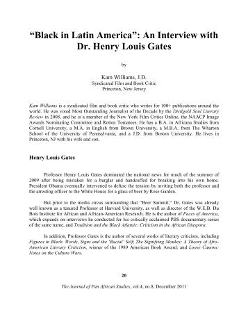 """Black in Latin America"": An Interview with Dr. Henry Louis Gates"