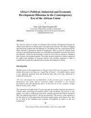 Africa's Political, Industrial and Economic Development Dilemma in ...