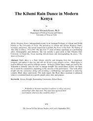 The Kilumi Rain Dance in Modern Kenya - Journal of Pan African ...