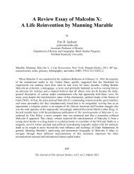 A Review Essay of Malcolm X - Journal of Pan African Studies