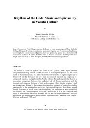 Rhythms of the Gods: Music and Spirituality in Yoruba Culture