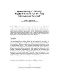 From Browning to Cake Soap - Journal of Pan African Studies