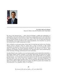 President Barack Obama - Journal of Pan African Studies