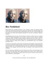 Rex Nettleford - Journal of Pan African Studies