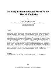 Building Trust in Kenyan Rural Public Health Facilities
