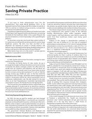 Saving Private Practice - Journal of the American Physicians and ...