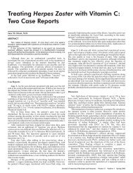 Treating with Vitamin C: Two Case Reports Herpes Zoster