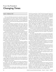 Changing Times - Journal of the American Physicians and Surgeons