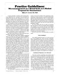 Practice Guidelines: - Journal of the American Physicians and ...