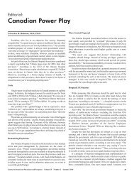 Canadian Power Play - Journal of the American Physicians and ...