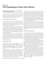 The Psychology of Sham Peer Review - Journal of the American ...