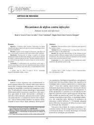 Mecanismos de defesa contra infecções - Jornal de Pediatria