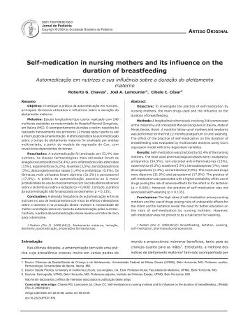 Self-medication in nursing mothers and its influence on the duration ...