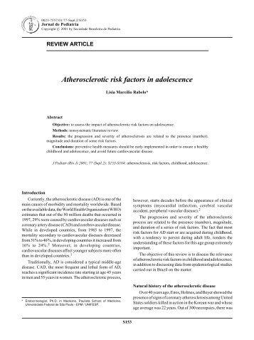Atherosclerotic risk factors in adolescence - Jornal de Pediatria