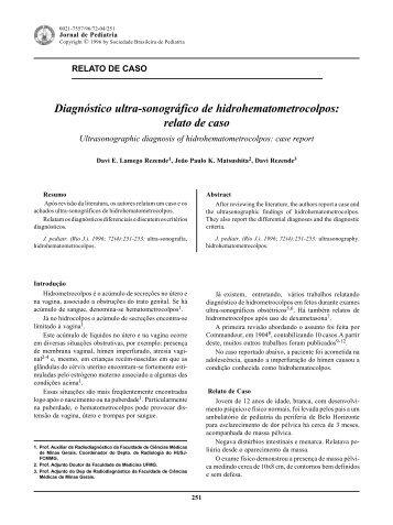 relato de caso - Jornal de Pediatria