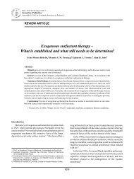 Exogenous surfactant therapy - Jornal de Pediatria