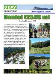 Ammergauer Alpen: www.dav-kaufering