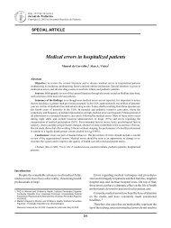 Medical errors in hospitalized patients - Jornal de Pediatria