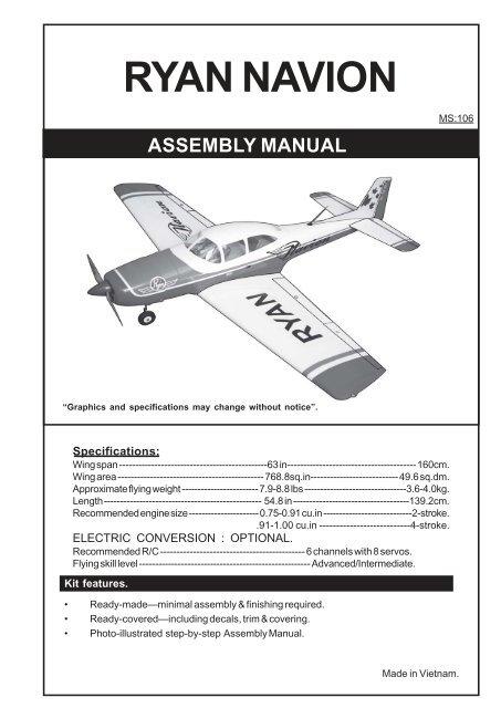 ryan navion assembly manual - RCFlight