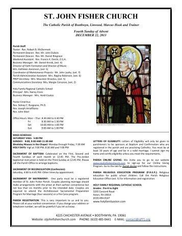 ST. JOHN FISHER CHURCH - John Patrick Publishing Company