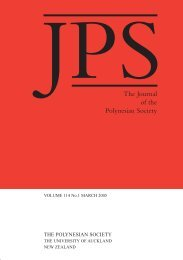 The Journal of the Polynesian Society - The University of Auckland