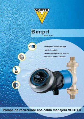 Pompe de recirculare apă caldă menajeră VORTEX