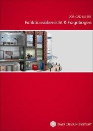 DDS-CAD Funktionsübersicht und Fragebogen 65 SR1 - 03-03-2009