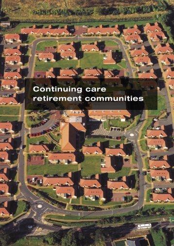 Continuing care retirement communities - Joseph Rowntree ...