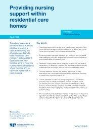 Providing nursing support within residential care homes - Joseph ...