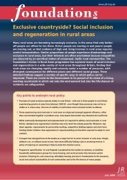 Social inclusion and regeneration in rural areas - Joseph Rowntree ...