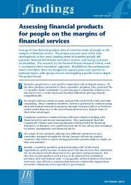 Assessing financial products for people on the margins of financial ...