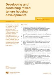 Developing and sustaining mixed tenure housing developments ...