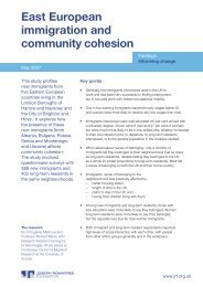 East European immigration and community cohesion (summary)