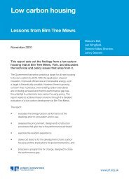 Low carbon housing: lessons from Elm Tree Mews - Joseph ...