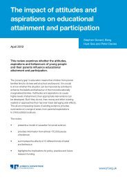 The impact of attitudes and aspirations on educational attainment ...