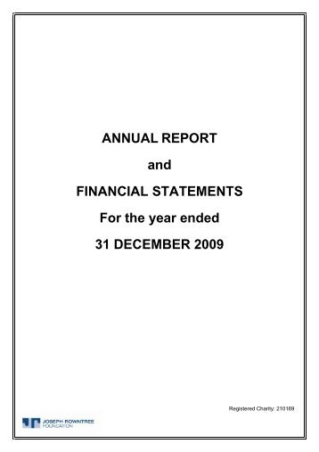 ANNUAL REPORT and FINANCIAL STATEMENTS For the year ...