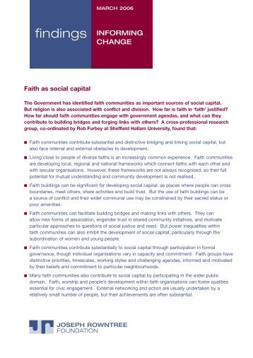 Summary PDF 4 pages 0.1 MB - Joseph Rowntree Foundation