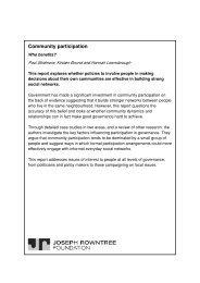 Community participation - Joseph Rowntree Foundation