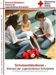 Schulsanitätsdienst - - JRK Karlsruhe
