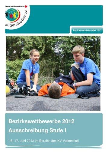Ausschreibung BVWett 2012 Stufe I - JRK: Bezirksverband Trier eV