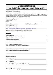 Jugendrotkreuz im DRK Bezirksverband Trier e.V. - JRK ...