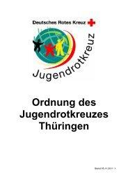 Ordnung des Jugendrotkreuzes Thüringen