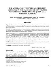 The Accuracy of Fine Needle Aspiration Cytology in the Diagnosis of ...